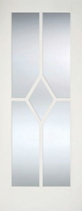 Internal Primed White Reims Glazed Solid Door