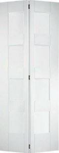 Internal Primed White Shaker 4 Panel Bi-Fold Solid Door