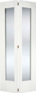 Internal Primed White Shaker Bi-fold Glazed Solid Door