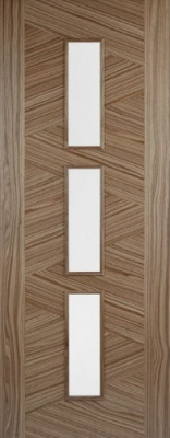 Internal Pre-Finished Walnut Zeus Glazed Door