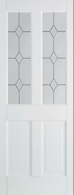 Internal Primed White Canterbury Diamond Glazed Solid Door