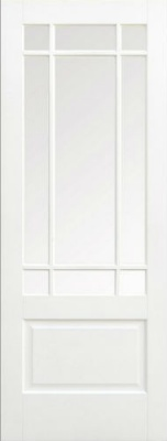 Internal Primed White Downham Glazed Solid Door