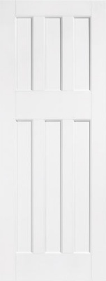 Internal Primed White DX 60's Style Solid Door