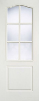 Internal Composite White Classical Glazed Door