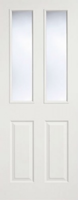 Internal Composite White 2 Panel - 2 Light Glazed Door