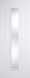 Internal Primed White Mexicano Glazed Door