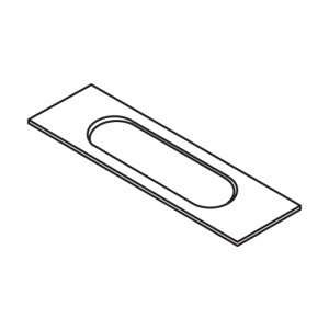 Trend Lock Template 20mm X 136mm Faceplate Rounded Ends